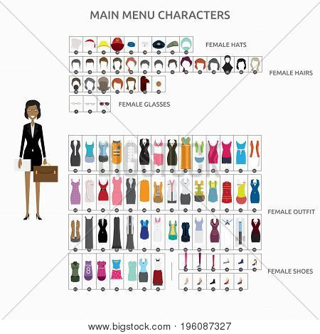 Character Creation Lawyer   set of vector character illustration use for human, profession, business, marketing and much more.The set can be used for several purposes like: websites, print templates, presentation templates, and promotional materials.