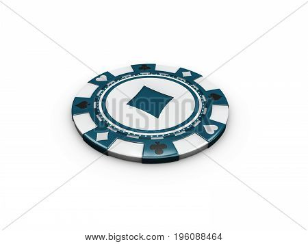 3D Illustration Of Chip Isolated On White Background.