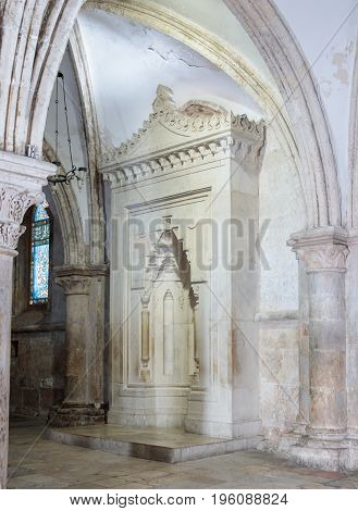 Jerusalem, Israel, July 14, 2016 : Fragment of the interior of the Room of the Last Supper in Jerusalem Israel.