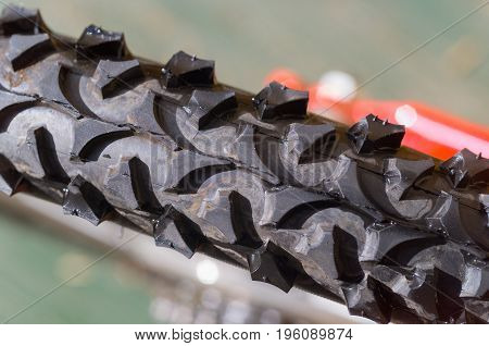 Bicycle Tyre Tread Detail