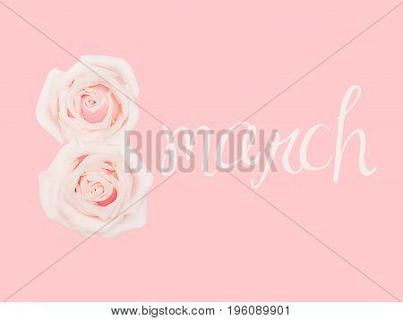 International Women's Day, march 8, pink background