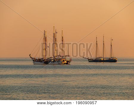 Sailing Ship Sunset