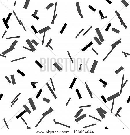 Trendy Abstract Seamless Pattern With Geometric Shapes.