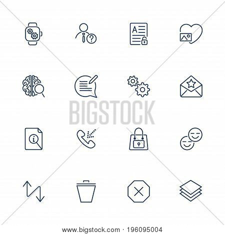 System User Interface Vector Icon Set. High Quality Minimal Lined Icons for All Purposes. Icons for sites, app, programs