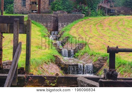 Small river to the water drive of a water mill.