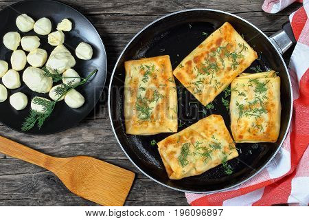 Tasty Cheese Spinach Stuffed Crepes Wraps