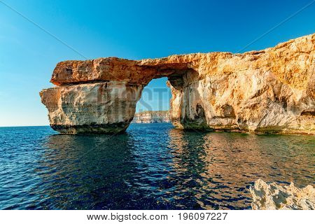 Azure window on the island of Gozo, Malta