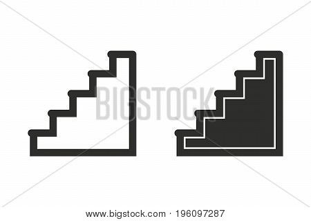 Ladder vector icon. Black illustration isolated on white background for graphic and web design.