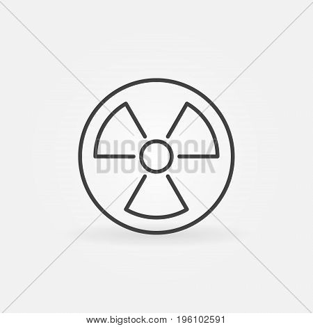 Radiation linear icon. Vector minimal nuclear power symbol or design element in thin line style