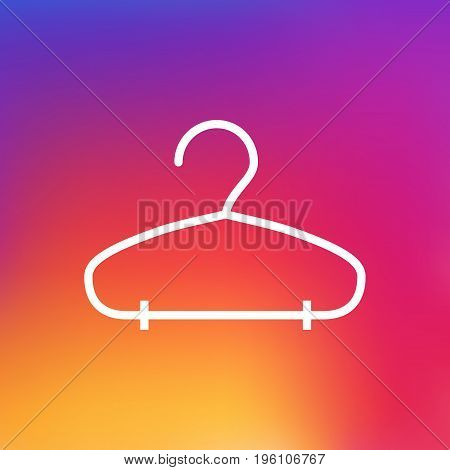 Isolated Rack Outline Symbol On Clean Background