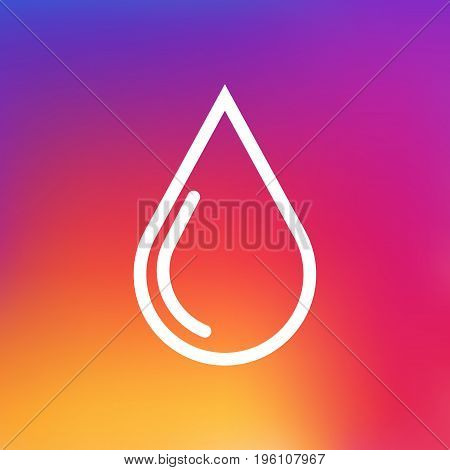 Isolated Blob Outline Symbol On Clean Background