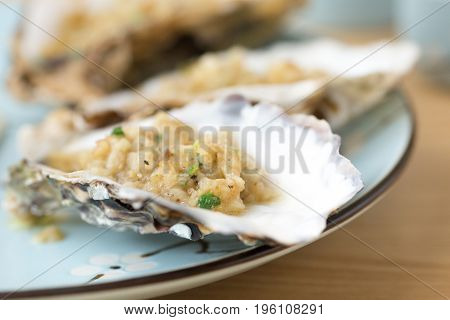 Garlic Grilled Oysters