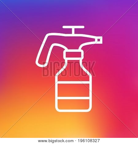 Isolated Spray Bottle Outline Symbol On Clean Background