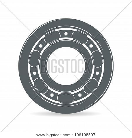 Bearing  isolated on white background, monochrome style, vector