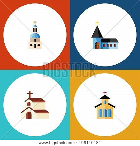 Flat Icon Christian Set Of Christian, Catholic, Religion And Other Vector Objects