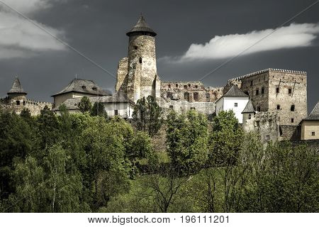 Beautiful Lubovna castle from Slovakia. HDR photography