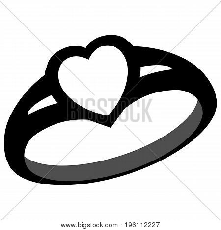 Diamond Love Ring Symbol wedding ring, diamond ring