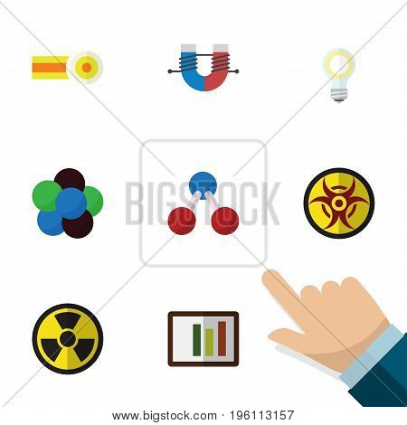 Flat Icon Knowledge Set Of Irradiation, Danger, Lightbulb And Other Vector Objects