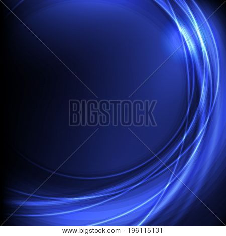 Flat beautiful abstract background in light and dark blue color with bokeh effect vector illustration