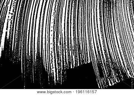 Grunge Soap Texture. Distress Black And White Rough Foam Trace Delightful Background. Noise Dirty Re