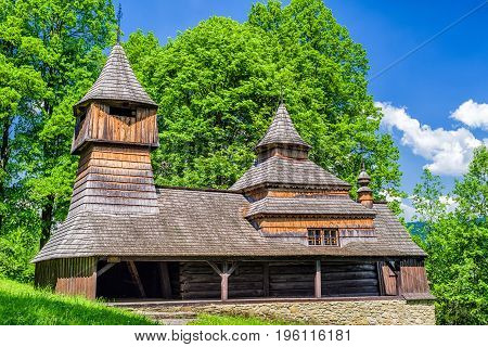 The Greek Catholic wooden church of St Cosmo and Damian in Lukov - Venecia Slovakia
