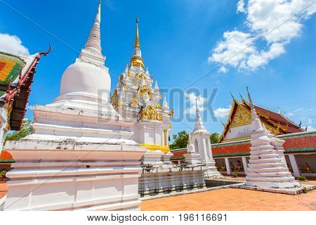 Wat Phra Borommathat Chaiya Ratchaworawihan Surat thani Province thailand