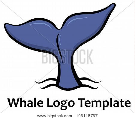 Whale tale - vector illustration for logo or sighn