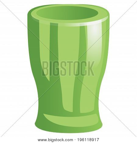 Cup goblet beaker icon. Isolated on white background Vector
