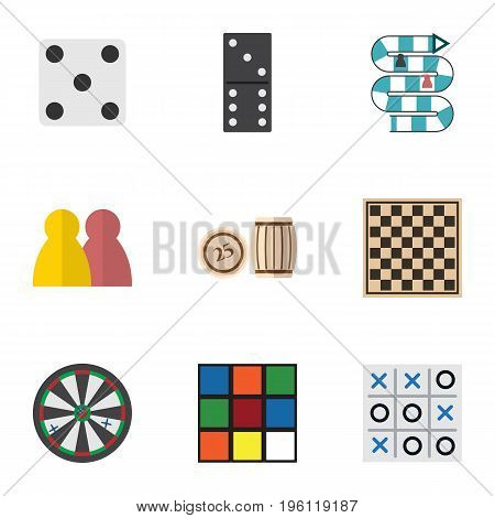 Flat Icon Entertainment Set Of Cube, People, Arrow And Other Vector Objects