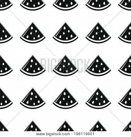 Watermelon black simple silhouette vector seamless pattern. Black fruit stylish texture. Repeating Watermelon fruit seamless pattern background for web