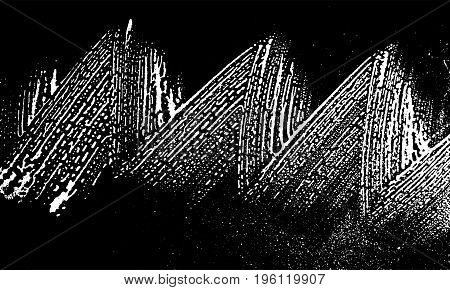 Grunge Soap Texture. Distress Black And White Rough Foam Trace Elegant Background. Noise Dirty Recta