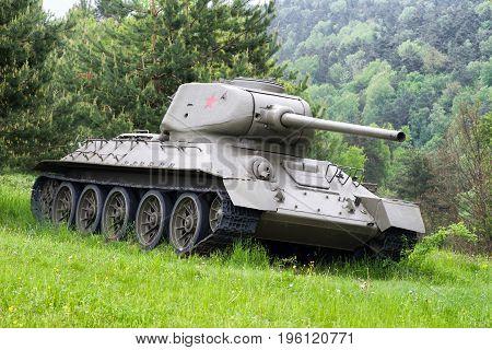 Soviet Tank T-34 From World War Ii, Slovakia