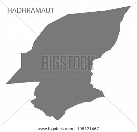 Hadhramaut Yemen Governorate Map Grey Illustration Silhouette Shape