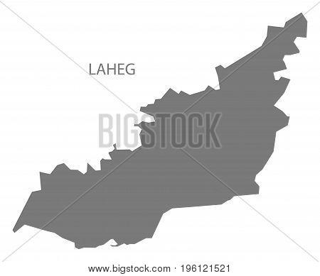 Laheg Yemen Governorate Map Grey Illustration Silhouette Shape