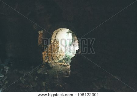 Brick tunnels of an old brick factory