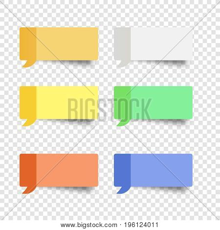 sticky note set  message box vector post note paper dialog remind  sticker yellow paper