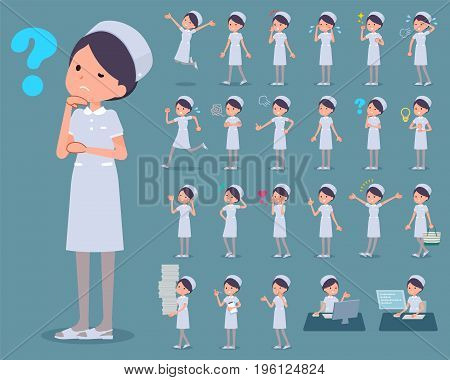Flat Type Nurse Wear Woman_1