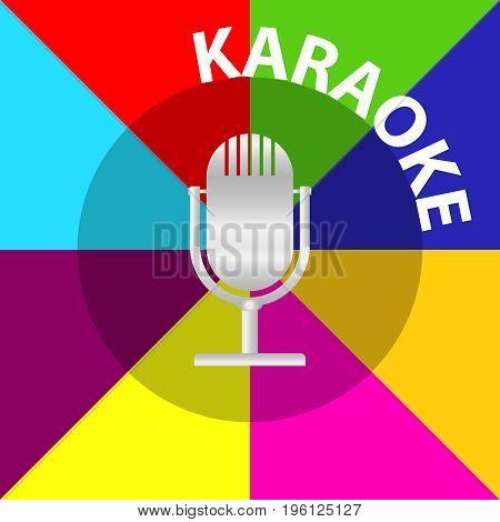 Microphone karaoke microphone icon. Flat design vector illustration vector.