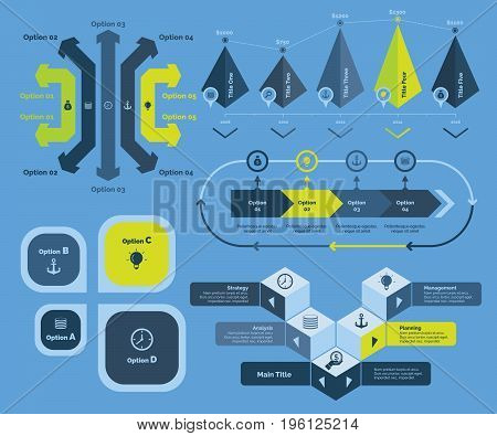 Components of business chart. Business data. Creative concept for infographic, various business templates, presentation, marketing. Can be used for topics like expenditure, development, earning