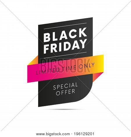 Black Friday. Special offer. Limited time only. Vector