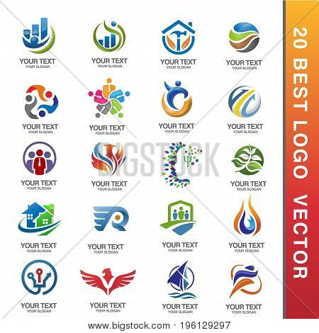 Business Corporate Logo Set Business Logo Design. Corporate Logo Design. Creative Business Vector Icons collection.