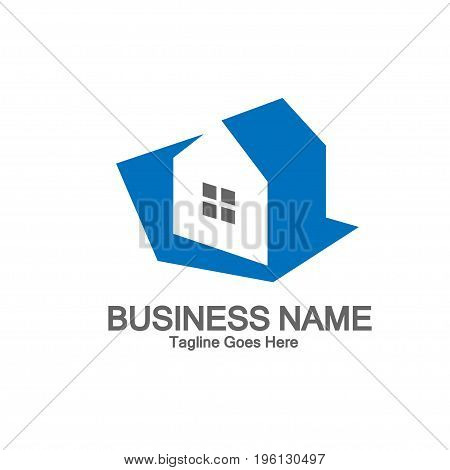 illustrations simple country homes logo concept, real estate abstract simple logo