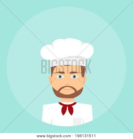 Cook icon of the cook. Flat design vector illustration vector.