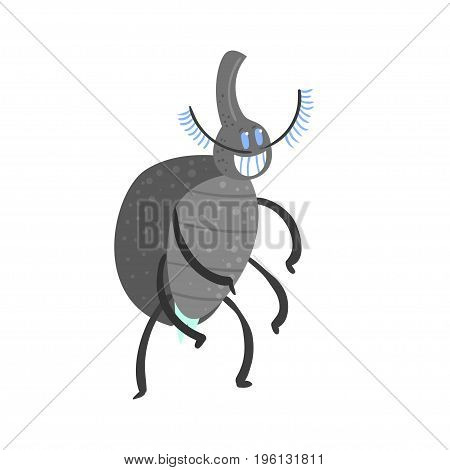 Cute cartoon insect character vector Illustration isolated on a white background