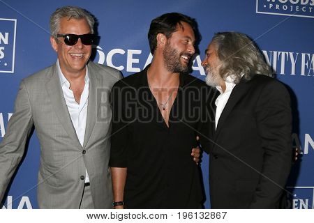 LOS ANGELES - July 17:  Danny Huston, Jack Huston, Mitch Glazer at the Rock Under The Stars With Don Henley And Friends at a Private Residence on July 17, 2017 in Los Angeles, CA