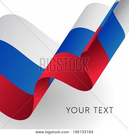 Russia flag. Patriotic design. Your text. Vector illustration