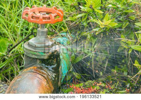 valve broken plumbing tube and motion water leak at wait repair plumber