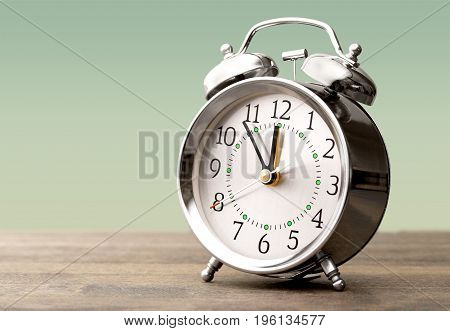 Retro clock alarm background number empty silver