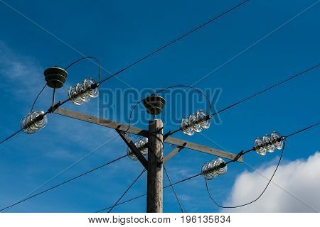 Electric Pole Close-up