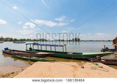 Boats On Mekhong Don Det